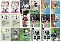 ROOKIES - LOT OF 154 FB CARDS W/ PETERSON, JAMAL LEWIS, MCFADDEN MORE