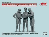 ICM 32106 - 1/32 British Pilots in Tropical Uniform (1939-1943) (3 figures)