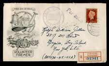 DR WHO 1949 CURACAO FDC COVER WILLEMSTAD REGISTERED AIRMAIL TO USA 160916