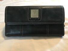 TIGNANELLO pebbled Black Leather  organizer WALLET