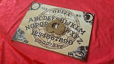 Wooden Ouija Board game & Planchette Instructions. Spirit hunt witch Ghost
