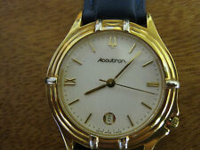 #279 mans stainless steel and gold plate swiss ACCUTON watch