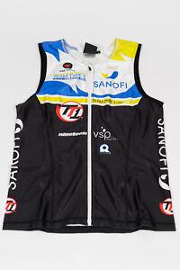 New 2012 Men's Pactimo Team Type 1 SL Delfino Tri Top, Black/Green, Size Small