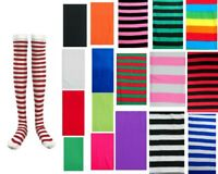 Women Girls Stripe Knee High/Over Knee High Socks Party Dress Stockings Costume