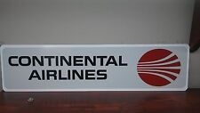 "CONTINENTAL AIRLINES Vintage logo Aluminum Sign  6"" x 24"""
