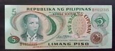 5 Pesos Banknote Philippines Andres Bonifacio Serial#BY612395