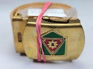 Vintage Original PHILIPPINES Army Officer Military Belt & Buckle HR77