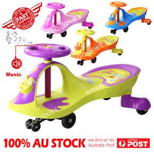 Swivel Scooter Wiggle Gyro Swing Car Ride On Twist & Go Kid Toy Car Child Music