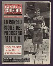 SORRISI 12/1957 MARIA PARIS FESTIVAL DI NAPOLI DUO FASANO CALISE JULIETTE GRECO