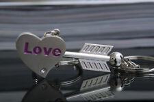 Wholesale 1 Pair Sweet Love Heart Key Ring Keyfob Couples Romantic Keychain Gift