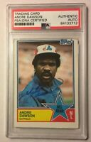 1983 Topps All-Star Signed Autographed ANDRE DAWSON Baseball Card PSA/DNA