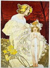 Femme Exposition de 1900 by Henri Privat-Livemont A1+ High Quality Canvas Print