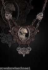Restyle Steampunk Lady Choker Halskette Kupfer Vintage Gothic Collier Necklace