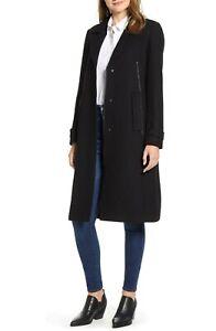 NWT $320 Marc New York Wool Blend Melton Coat 12
