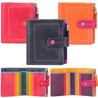 Visconti Womens Very Soft Small Real Leather 6 Card Purse 'Mojito' M77 Boxed