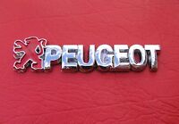 PEUGEOT BADGE Chrome Plastic Dash Emblem * NEW * 80mm long