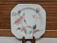 """Vintage Mikasa Continental Silk Flowers 8.25"""" Salad Plates Set Of 6 JAPAN"""