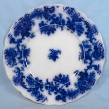 Lancaster Flow Blue Plate New Wharf Pottery England 1891 Porcelain Antique 9in.