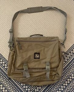 Vintage Eddie Bauer Messenger Bag TAN Snap Closure