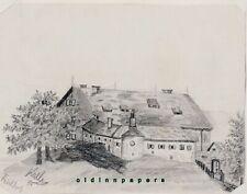 Tirschenreuth Kloster Waldsassen Fischhof Bleistift Zeichnung Kalb Erlangen 1889