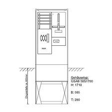 Leer-Säule Zähleranschlusssäule für eine Hausanschlusssäule DS ohne MPL