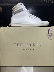 Ted Baker London Kilma White High top Sneakers Men Size US 7 EUR 40 Authentic