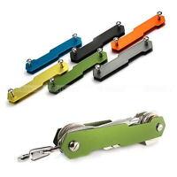 Hard Oxide Aluminum Key Holder Organizer Clip Folder Keychain Pocket Carry EDC