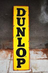 "Vintage Dunlop Tyre Tire Sign Porcelain Enamel Advertising Gas Pump Petrol Oil""3"