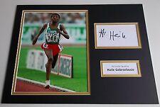 Haile Gebrselassie SIGNED autograph 16x12 photo display Athletics AFTAL COA