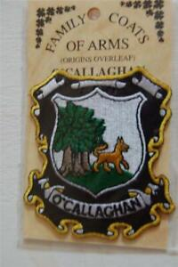 O'CALLAGHAN Family PATCH Heraldic Coat of Arms - Crest - Embroidered - Badge