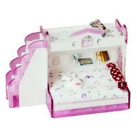 1/12 Puppenhaus Miniaturmöbel Doppelstockbett für Schlafzimmerzubehör