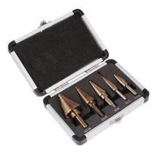 5*Broca Escalonada HSS Broca Cónica de Paso Escalonadas Medidas Caja de aluminio