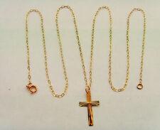 9ct Gold Cross Pendant & Chain