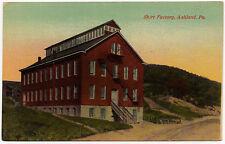 1934 Ashland PA The Shirt Factory Building Schuylkill County RARE DB Postcard