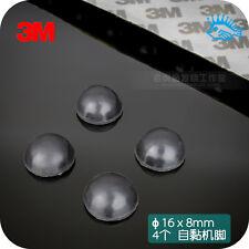 4pcs 16x8mm self-adhesive foot pad hemispherical 3M latex shockproof shock