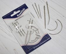 Assorted Set of Repair Hand Sewing Needles Curved & Straight x7 Needle Pack