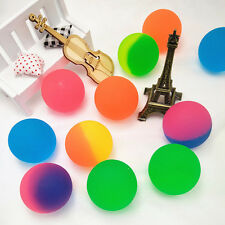 10X 30mm Colorful Bouncy Jet Balls Birthday Party Loot Bag Filler Funny Toys.^;