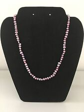 """New Pink Purple Freshwater Pearls & 925 Sterling Silver necklace 18"""" long"""