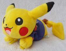 "Official Tomy Takara Pokemon Pikachu Football World Cup Japon Soft Plush Toy 7"""