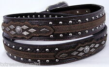 ARIAT belts men's casual western accessories Dk BROWN LEATHER CONCHO BELT 38 NWT