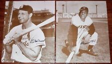 RARE STAN MUSIAL & WILLIE MAYS AUTOGRAPH 11x14 GROSKINSKY SEPIA PHOTO LOT, AUTO