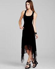 NEW BCBG MAX AZRIA BLACK AKRIS ASYMMETRICAL-HEM TANK DRESS AAG6V433 SIZE: L $118
