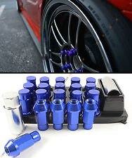 FOR SUBARU MODELS M12X1.25 JDM SPEC R STYLE BLUE TUNER WHEEL LUG NUT+ KEY+ LOCKS