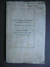 Libri Antichi Medicina Colera d'oggi giorno Epidemie Emiliani Della Volpe 1836