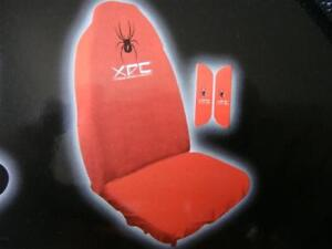 2 RED SEAT COVER  WITH SPIDER & XDC LOGO,THROW OVER FIT HOLDEN COMMODORE, VB,VN