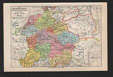 Landkarte map 1925: Das Deutsche Reich und seine Nachbarländer 919-1125.