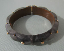 Alexis Bittar GREY  Gold Studded Magnet Bangle