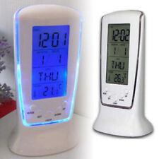US _LED Night Lights Digital Clock Calendar Thermometer Snooze Alarm Clock Kit