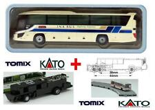 KATO by TOMIX AUTOBUS-3 + CHASSIS MOTORE ELETTRICO-MAGNETICO per SET BUS SCALA-N