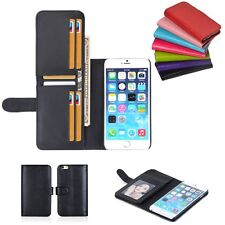 New Card 6 Holder Flip Wallet Leather Case Cover For Apple iPhone 6S